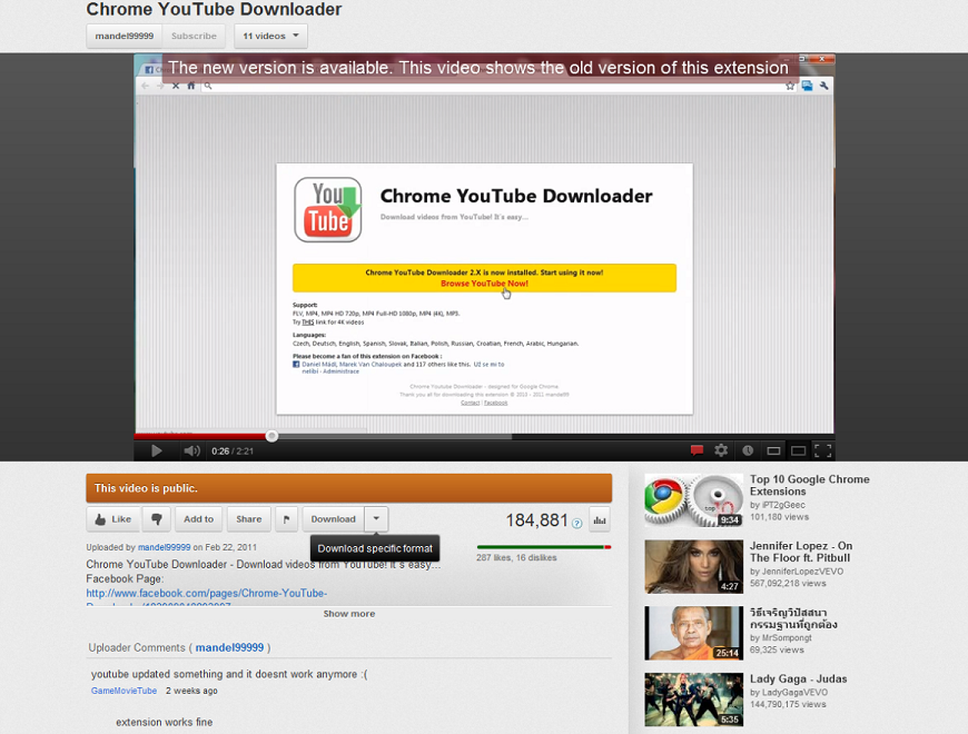 Video downloader chrome youtube